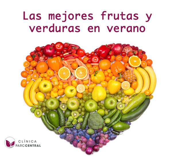 frutas y verduras en veran