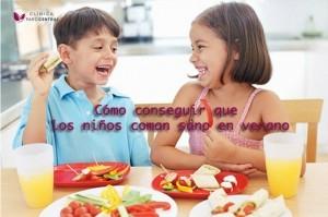 niños coman sano en verano